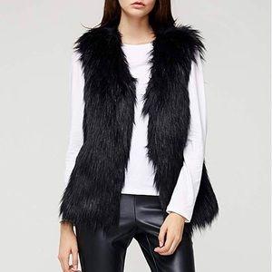 Jackets & Coats - 🆕 Black Faux Fur Vest